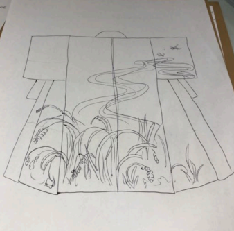 Drawing kimono