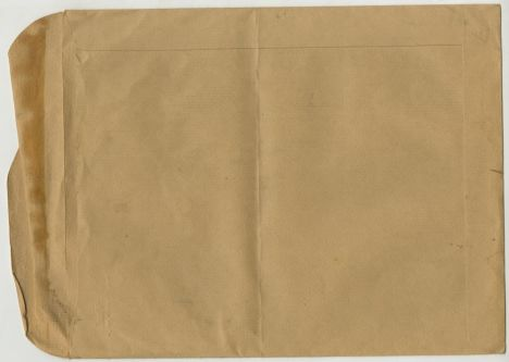 Envelope containing photo, record card and documentation for a 'Pottery Surface Decoration' display (reverse). ILEA Collection IA_P6F1_D2.