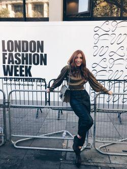 Valerie Worner at London Fashion Week