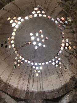a stone dome from the inside