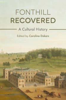 The book cover for Fonthill recovered by Caroline Dakes showing an illustration of the estate