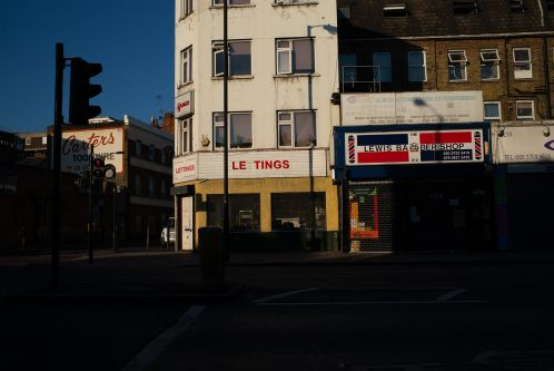 Shop fronts in light