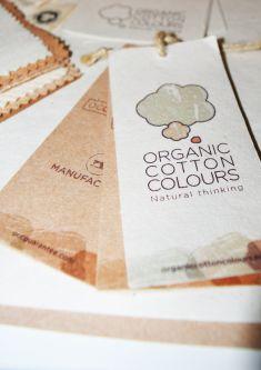 organic cotton colours labels using short fibres