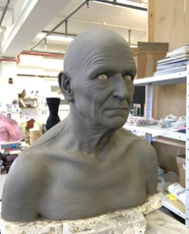 Clay mould of man