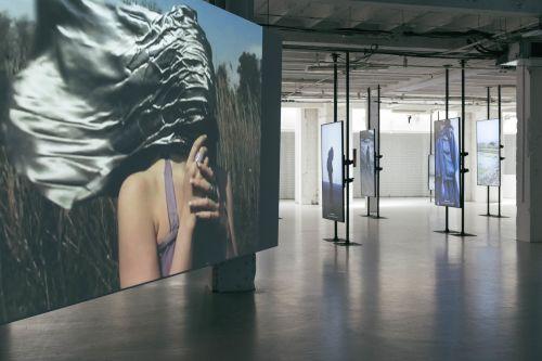 Big screens of digital showcasing