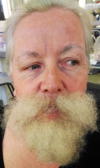 Special Effects Makeup student work - beard effect by Livia Toso