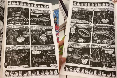 graphic novel extracts on the vagina dentata myth