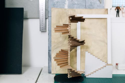 Model of stairs for theatre design