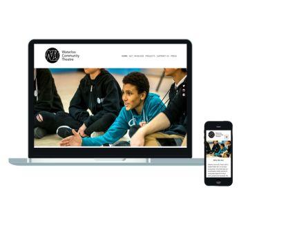 Website design for Waterloo Community Theatre