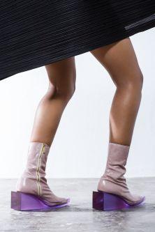 Mauve perspex heel boot