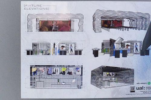 Student work by Stefan Fernandes showing spatial designs