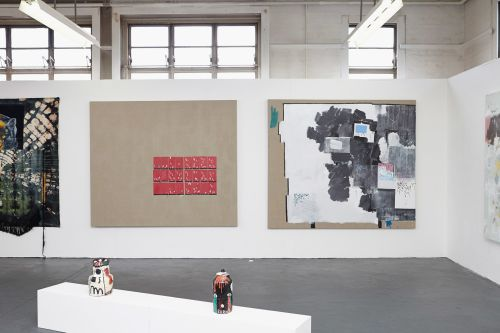 2 large scale paintings by James Collins.