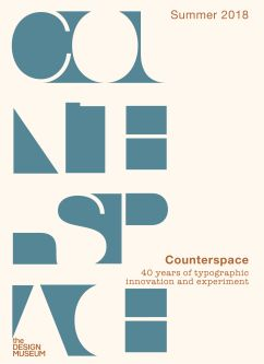a poster with typographic detail which reads counterspace
