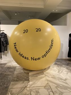 yellow ball with inspirational quote