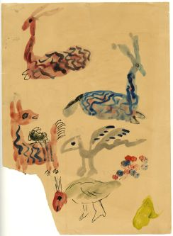 Ian Godfrey sketchbook, animal drawings.