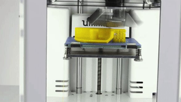 a 3D printer printing an object