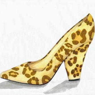 animal print pumps illustration
