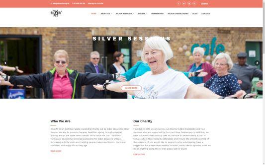 Website design for Silverfit
