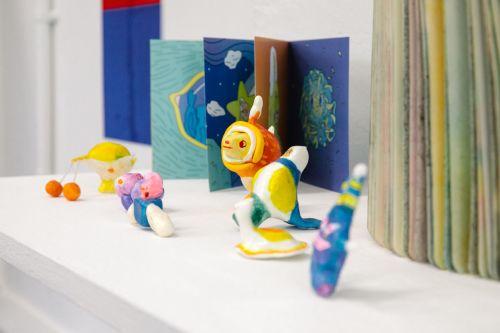 colourful artwork on display