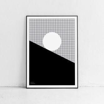 Poster momentum monochrome grid Fine art print
