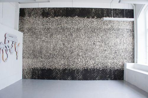 Wall drawing by Rosie Wyllie.