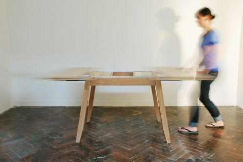 Folding table by Emily Rohrer.