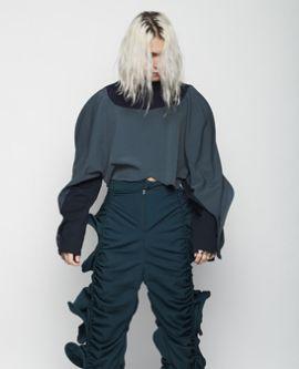 Model wearing garments