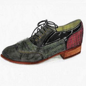 Footwear illustration by Crystak
