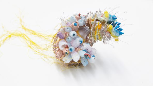 Material exploration work by Jing Tan inspired by sea urchins.