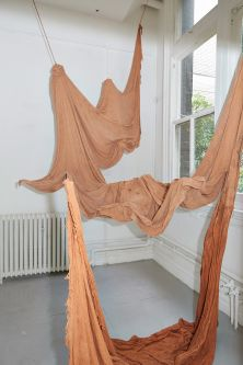 Textile drape piece by Dionne Ward.