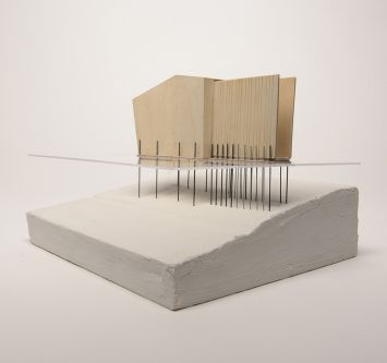 Architectural model by Leonora Gray.
