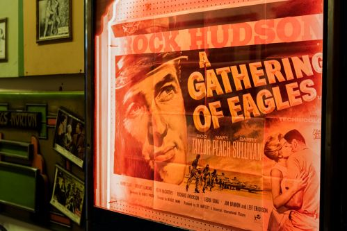 'A Gathering of Eagles' vintage print poster in situ at The Cinema Museum