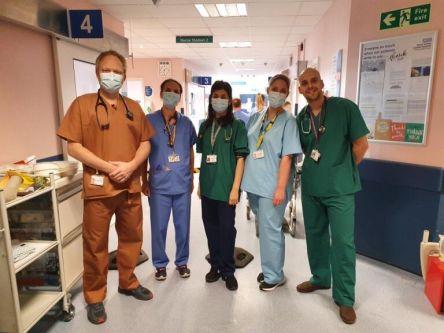 Team in scrubs