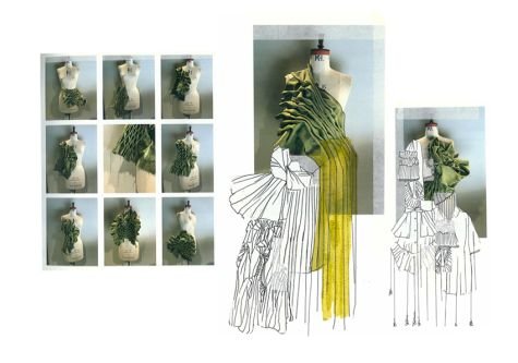 Photographs and drawings of green form