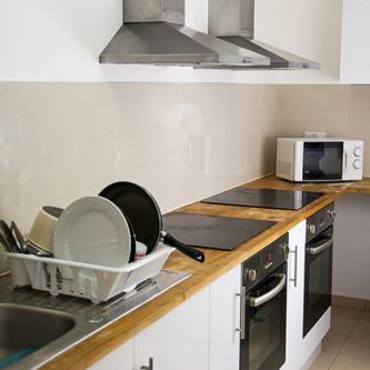 Photo of a student kitchen at Furzedown Student Village