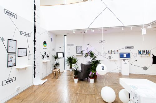 Installation view of BA (Hons) Design Management and Cultures 2016 degree show.
