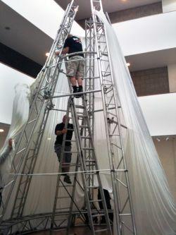 Event design – set pieces and rigging.