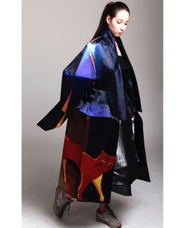 Model wearing designs by Olivia Alves Suguri