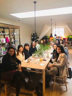 Fashion Retail Management students have breakfast at MatchesFashion Townhouse