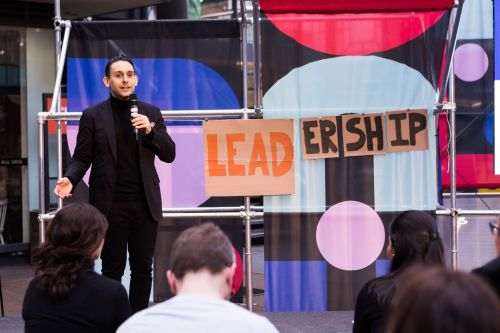 Student presents their final EMBA project at Fashion Means Business
