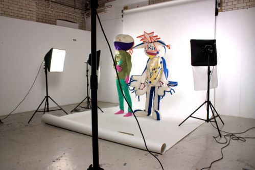 Photo shoot of characters created by Alice Rigby.