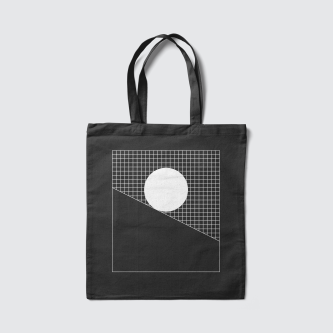Modes of thought motivational poster momentum monochrome grid black bag by Lets Be Brief