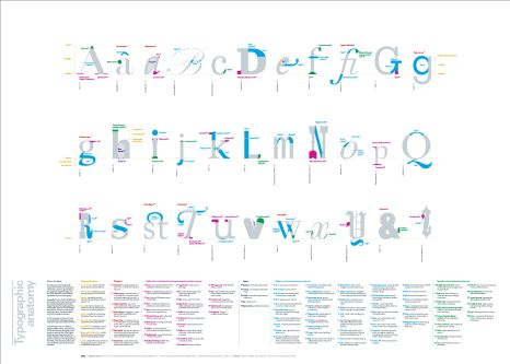 alphabet in design typography.