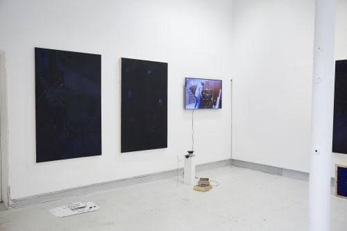 Painting and video work by Andrew Hart.