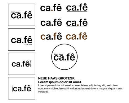 Felipe Blasca's cafe logo concepts.