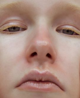 Close-up of models face
