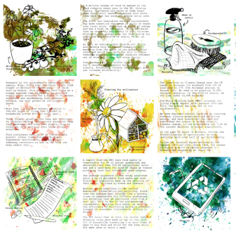 9 squares with illustrations of enviroments