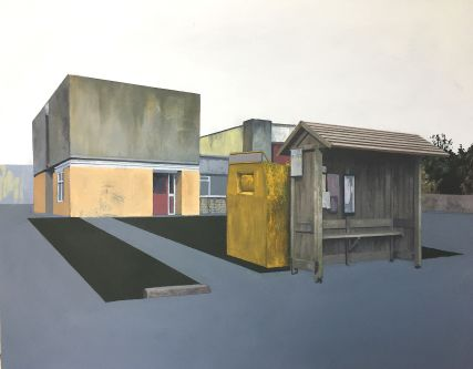Painting of an urban landscape by Jack Candy-Kemp - MA Fine Art Painting