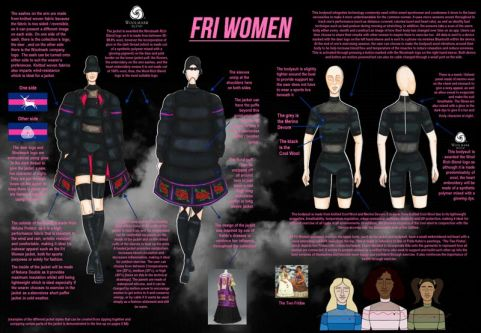 Keren's submission showing Outfit construction.