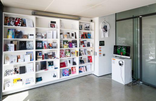 Shelves of publications